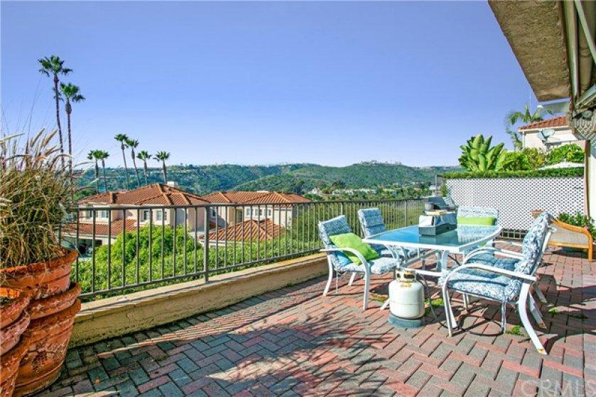 private patio with panoramic views