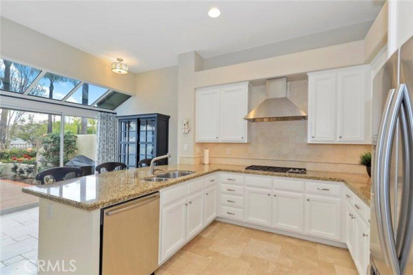 Kitchen with Breakfast Nook and Solarium Windows
