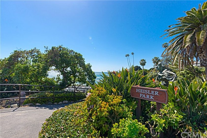 One of the entrances to Heisler Park.