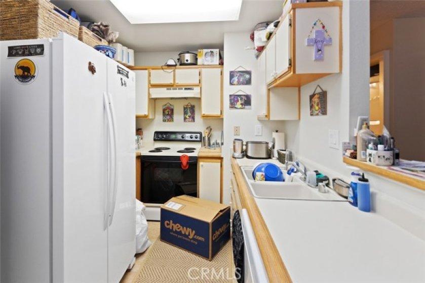 Entering through the Kitchen.