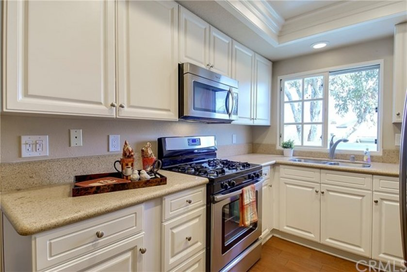 White Kitchen with Recessed LED Lights