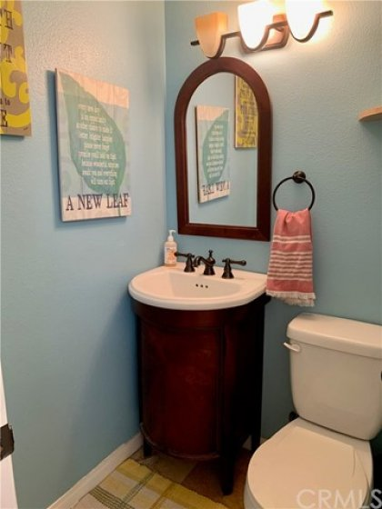 This ground floor powder room added by a former owner is a game changer! No more sending guests upstairs to use a restroom.
