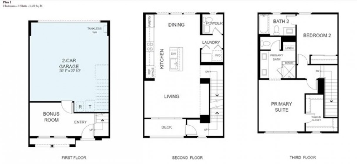 Floorplan - interactive plans are available on the website
