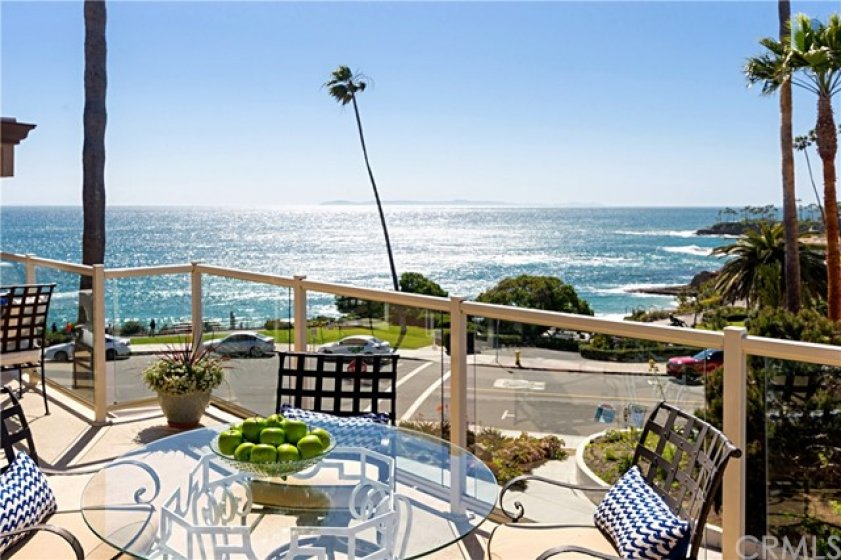 Enjoy outside dining on this spacious Ocean View Front Deck.