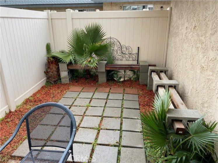 Master bedroom's private backyard