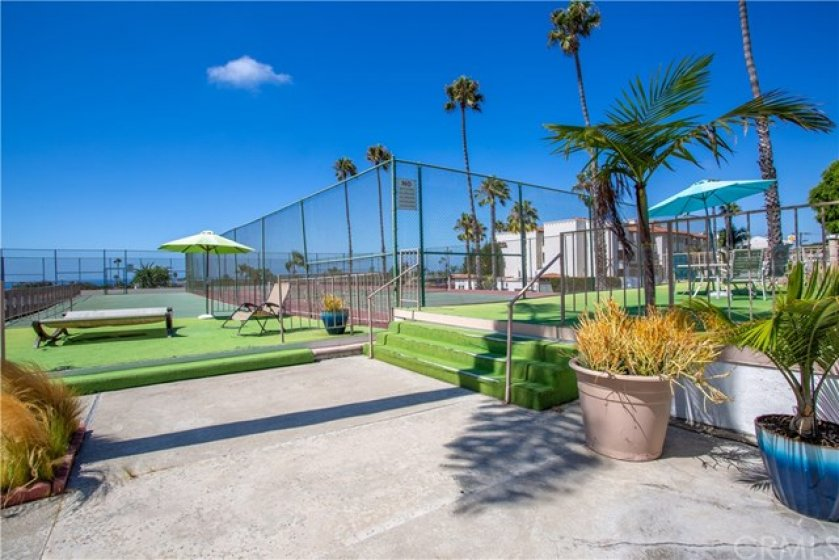 Tennis courts for owners and guests