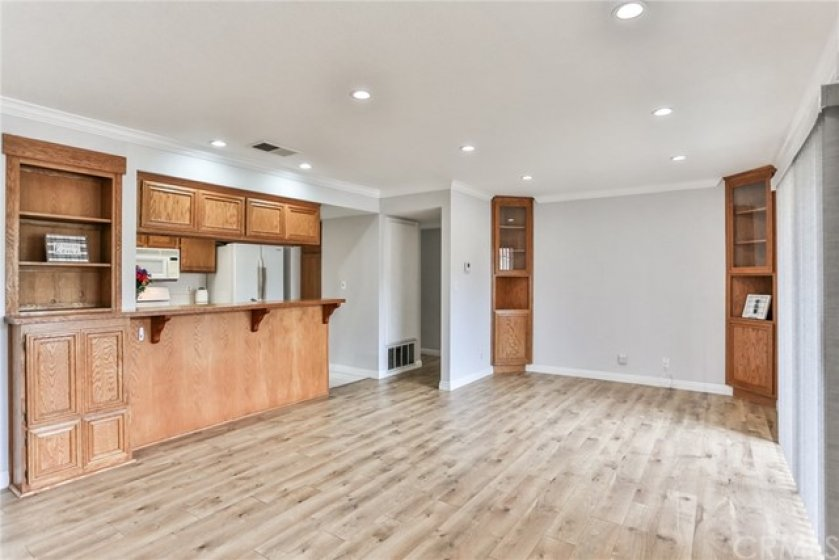 New floors and recessed lights throughout the home.
