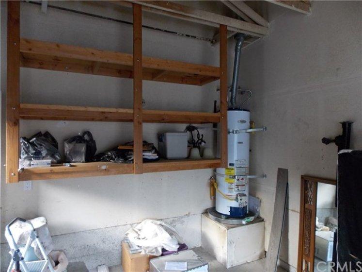 Garage with Storage Shelving