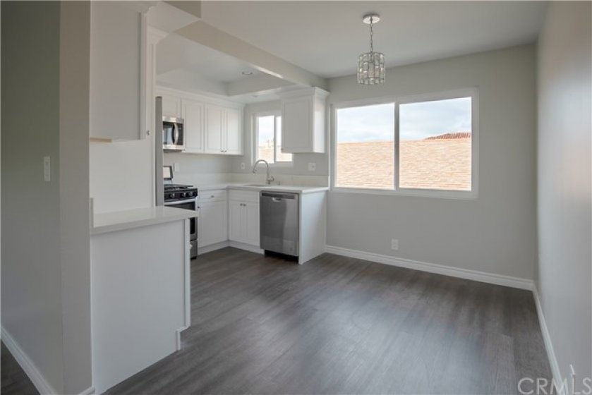 Dining Area between Living Room and Kitchen