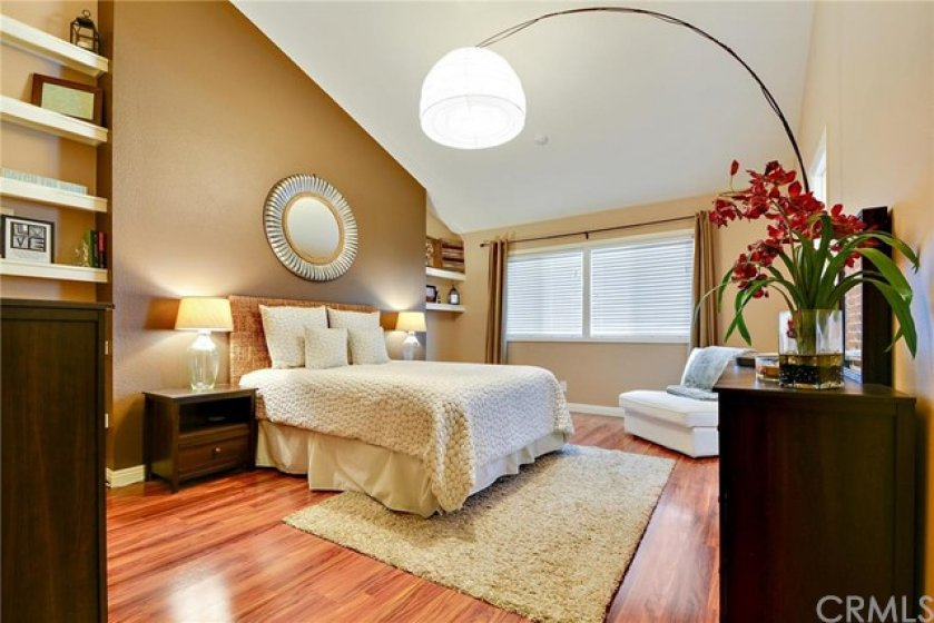 Master Bedroom, cathedral ceiling