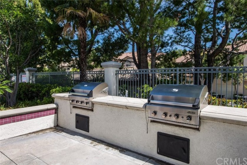 Barbecues located in the community pool areas