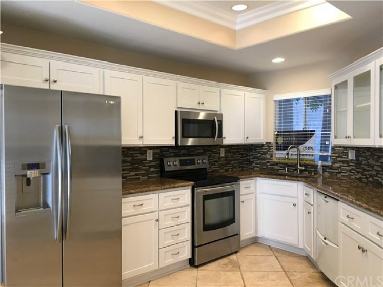 Kitchen with remodeled cabinets. Includes pull out drawers.