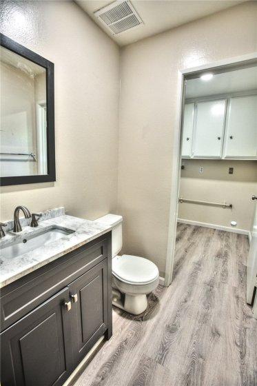 Half Bath & Laundry Room