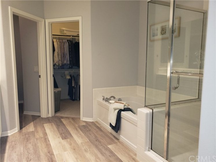 Big walk-in closet, private commode, walk-in shower, soaking tub - your own private oasis!