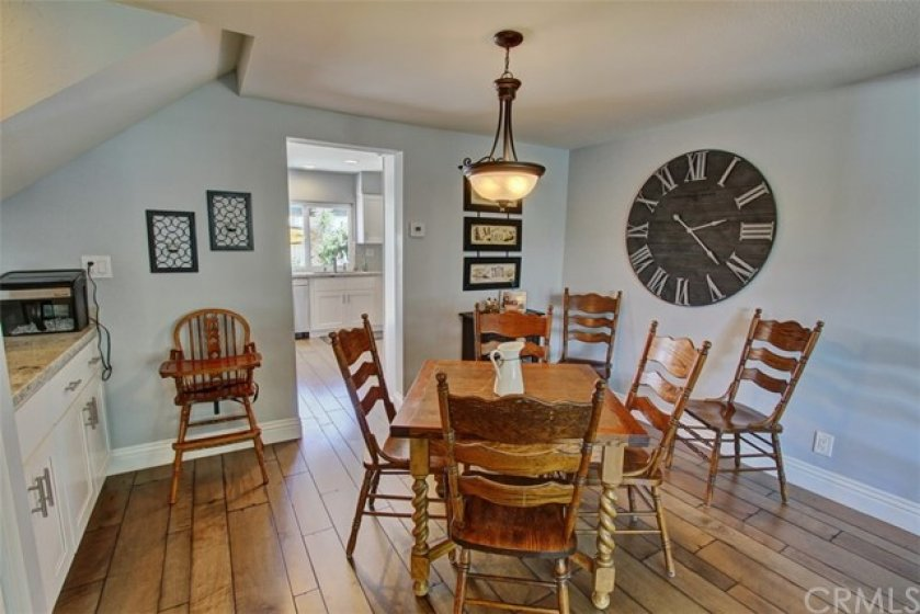 Dining area with easy access to kitchen