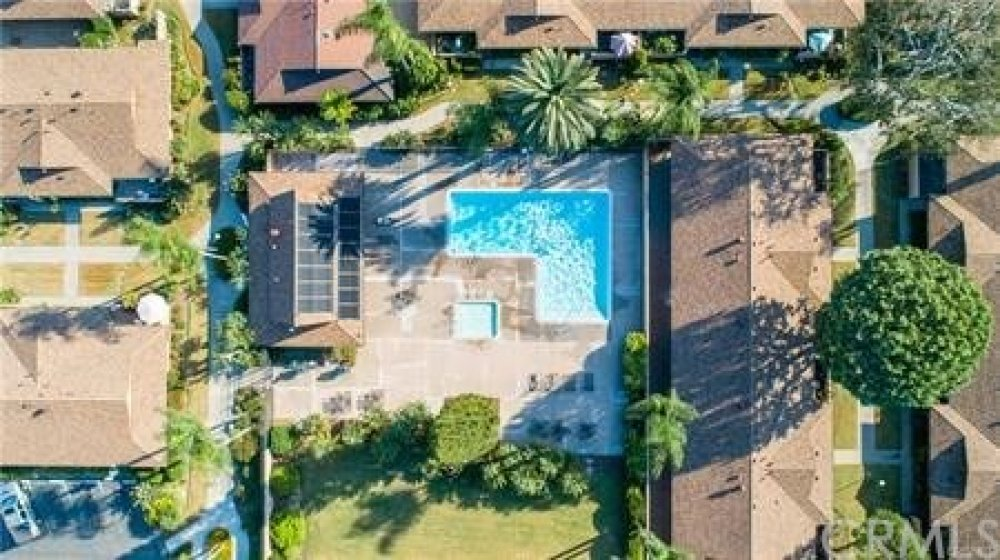 You will find a sparkling pool to enjoy that is just a short walk from your front door.