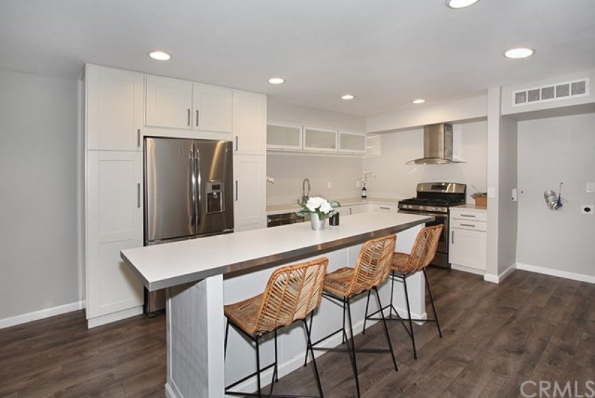 Stainless Steel appliances and soft close cabinets and drawers.