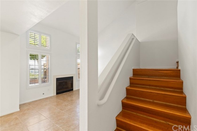 Stairway with Engineered Wood Floors