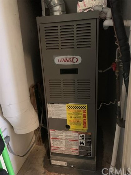 Newer Lenox furnace unit. Well located in a closet for easy access and maintenance.