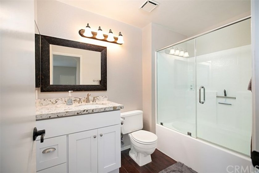 Bathrooms upgraded with new counters, cabinets and shower doors