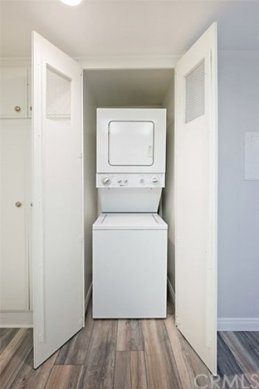 Stackable Washer and Dryer Included