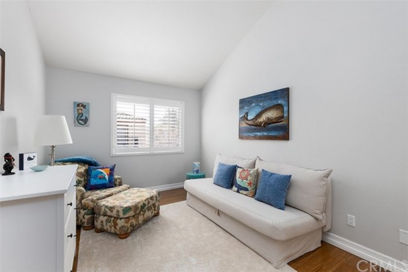 Third Bedroom with Vaulted Ceiling with Fan