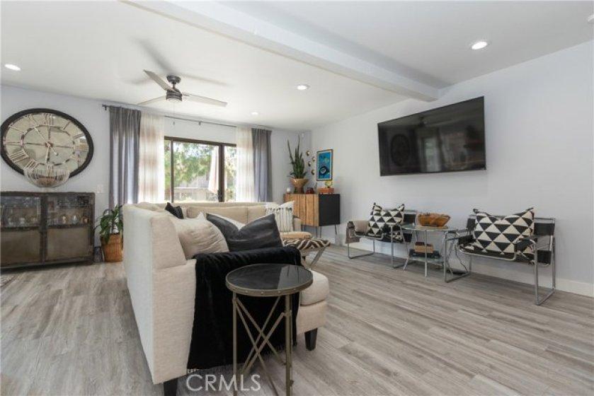 Spacious and comfortable living room.