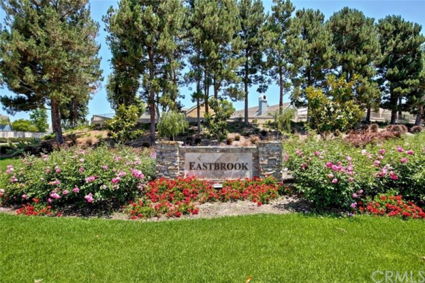 Eastbrook is a private community and is highly sought after.