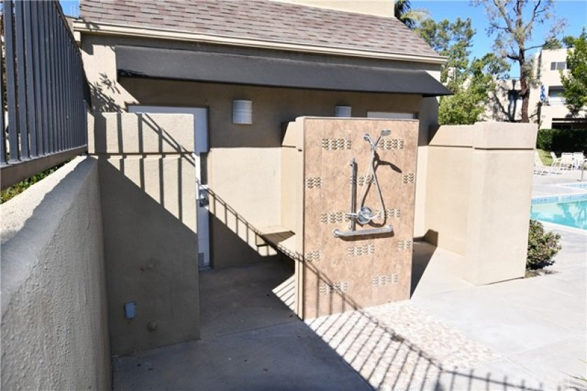 Community restrooms and shower at the pool area. They have thought of everything to make this a very enjoyable place to just relax.
