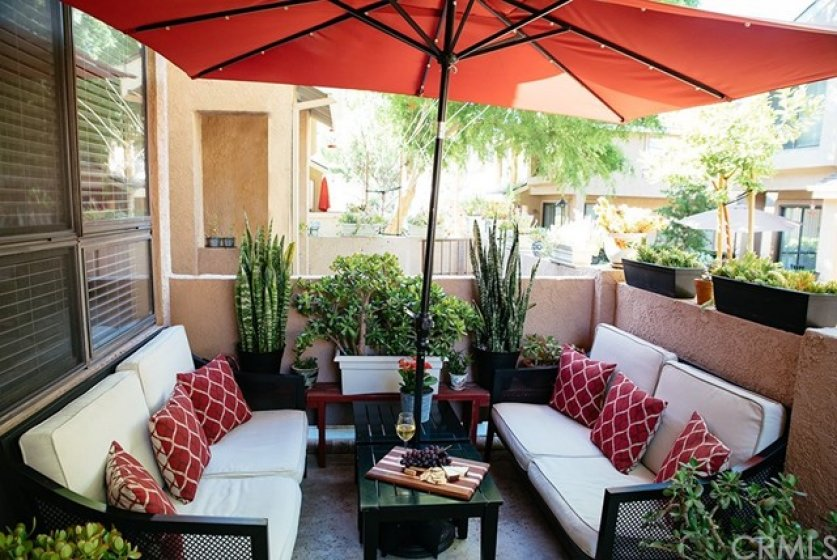 Large patio to entertain and relax!