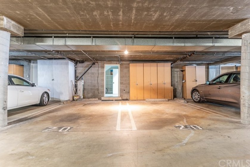 2 Side By Side Parking Spots In Secured Structure