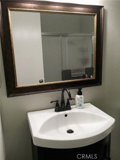Hallway bathroom vanity