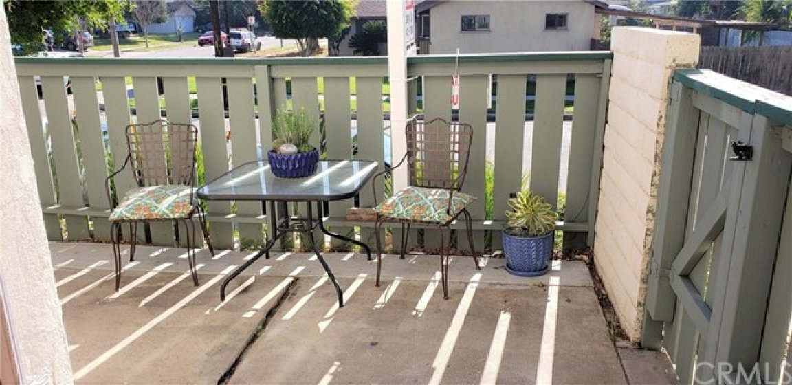 Cozy patio.  Great for family get together.