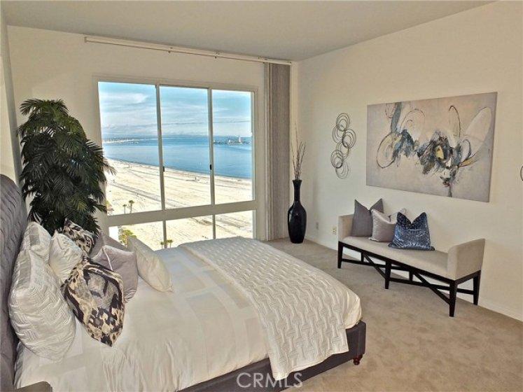 Spacious Master bedroom with ocean breezes.