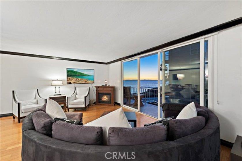 sit down ocean views from living room