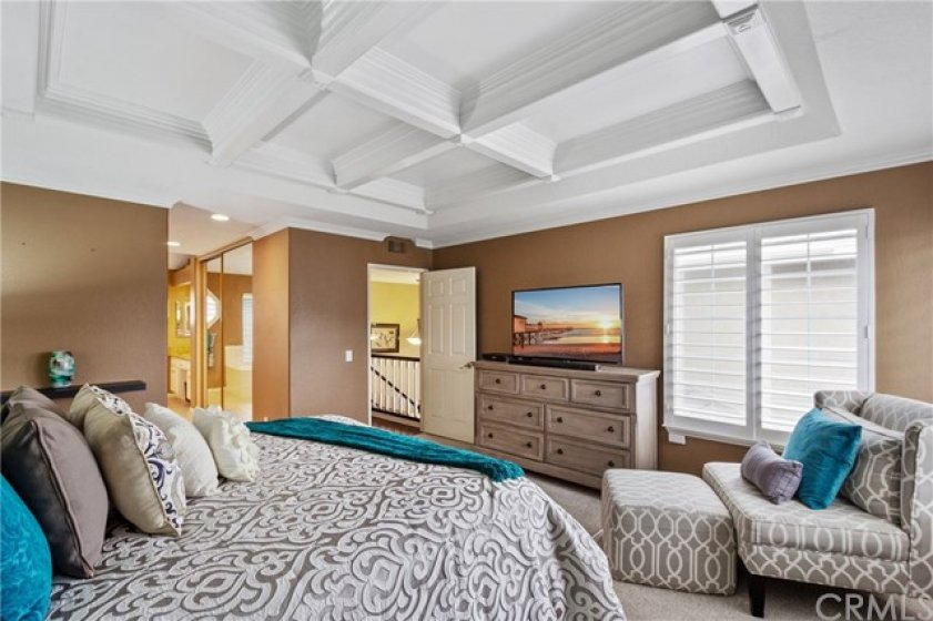 This master has a private location separate from the other sleeping rooms with sweeping views!