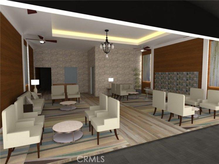 Proposed renderings of lobby.