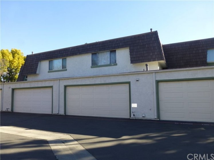 Two car garage with direct access to unit plus Garage door opener