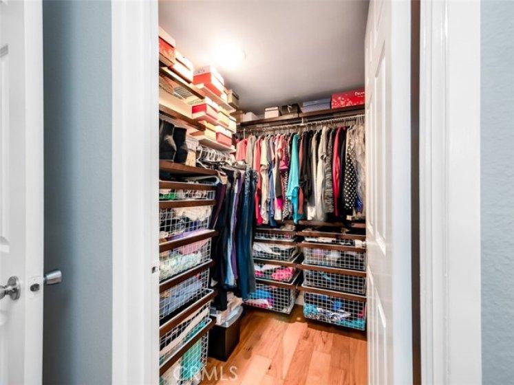 Spacious Organized walk-in closet