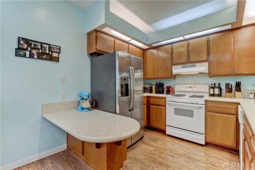 Kitchen has plenty of storage and counter space.