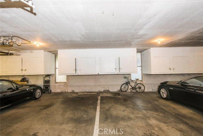 2 car parking & storage