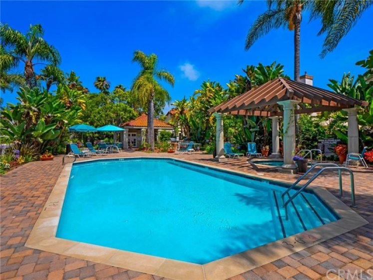 Feel like you are on vacation when you spend time by this pool