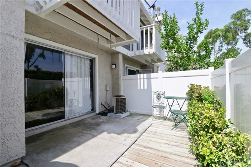 Large private back patio. No one behind you.