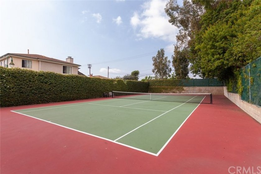 Hidden tennis court available for the residents of Brittany Woods.