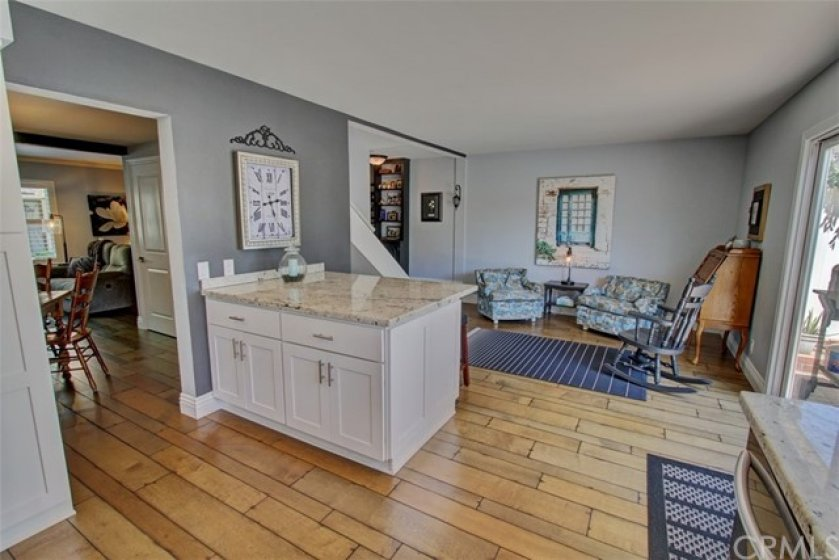 Cozy family room off kitchen