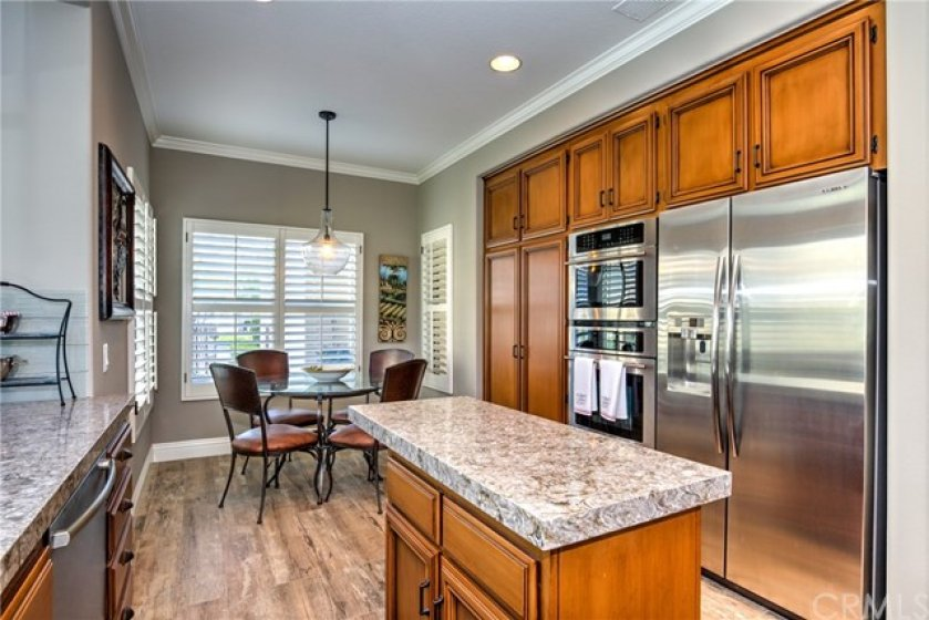 Kitchen Island and a Breakfast Nook