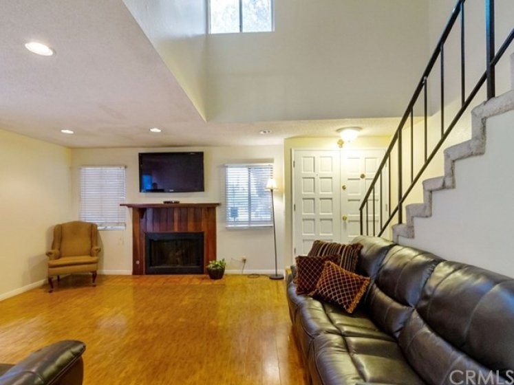 Huge family room with lots of light!