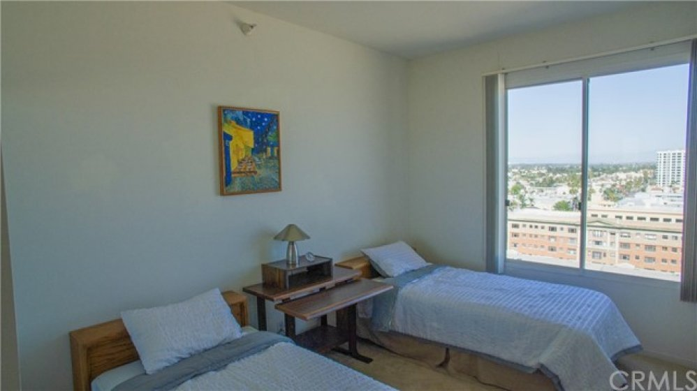 2nd bedroom has both city and ocean view