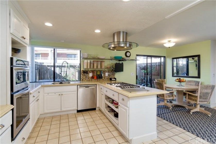 Kitchen area is light and airy...