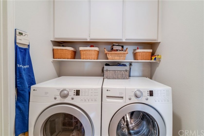 Interior Laundry Room has Plenty of Storage